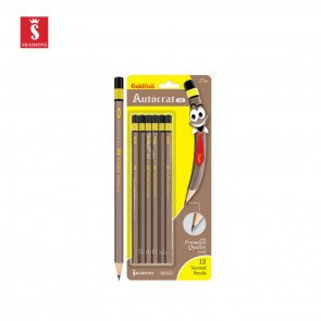 Shahsons Goldfish Autocrat Pencils - 2 1/2 HB - 12 PACK - Quality Writing Pencils - made in Pakistan
