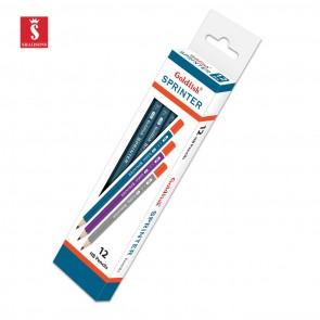 Shahsons Goldfish Sprinter Pencils - 2 HB - 12 PACK - Quality Writing Pencils - made in Pakistan