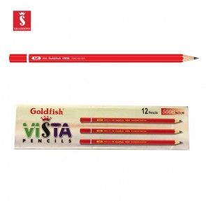 Shahsons Goldfish Vista Pencils - 2 1/2 HB - 12 PACK - Quality Drafting Pencils - made in Pakistan