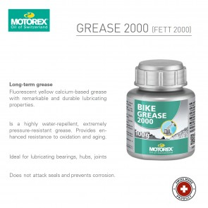 Motorex Grease 2000 - 100g bottle - Made in Switzerland
