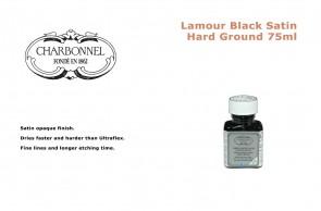 Charbonnel Lamour Black Satin Hard Ground 75ml