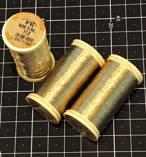 Fil Au Chinois Metallic Thread - DARK GOLD - in 100m Bobbin - MADE IN FRANCE