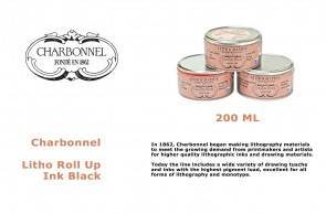 Charbonnel - Litho Roll Up Ink Black 200ml