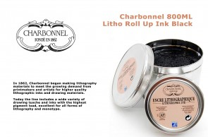 Charbonnel - Litho Roll Up Ink Black 800ml