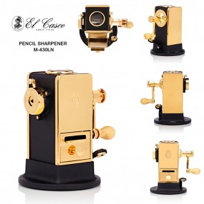 EL CASCO Desktop Pencil Sharpener M-430LN - Gold/Black - a true work of art - Made in Spain