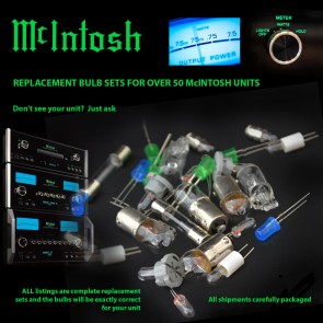 McIntosh MC200 MC206 MC300 MC352 MC602 MC2000 Replacement Bulbs - complete set
