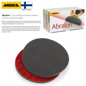 """100 PACK - Mirka Abralon 6"""" silicon carbide round sanding pads (wet or dry) - choose grit - 180 to 4000 - Made in Finland"""
