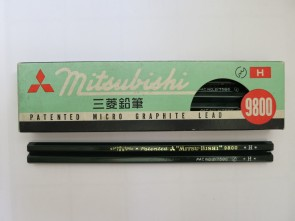 VINTAGE MITSUBISHI 9800 Pencil - H - Made in Japan