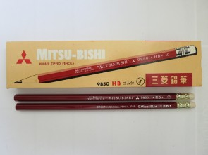"VINTAGE MITSUBISHI 9850 ""Office Use Writing"" Pencil - HB - Made in Japan"