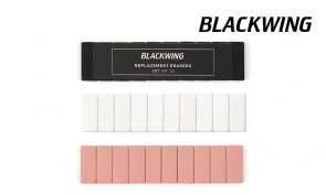 3 PACK of Blackwing Replacement Erasers (WHITE, BLACK, PINK) - (30 Pack) - Made in Japan