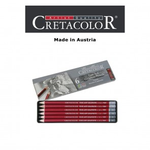 Creatacolor Red Graphite Pencil Pocket Tin Set of 6