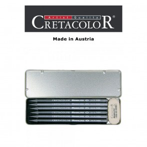 Creatacolor  Monolith Graphite Tin Set of 6 Pencils + Eraser (HB to 9B)