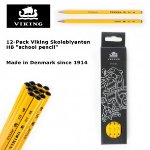 "12-Pack Viking Skoleblyanten HB ""school pencil"" - Made in Denmark since 1914"