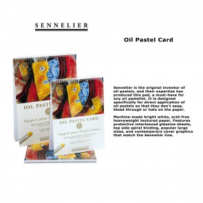"Sennelier Oil Pastel Card Spiral Pad 9.5"" x 12.5"" 160lb 12 Sheets"
