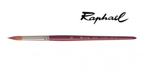 Raphael - SIZE 12 - Red Sable Short Round Paint Brush - Made in FRANCE
