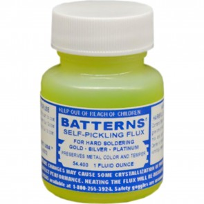 Batterns Soldering Flux - 1 Oz - for metal w high melting points (gold, silver, platinum, etc)