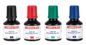 Edding T25 Permanent Marker Refill Ink - choose color - Made in Germany