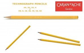 Caran d'Ache - Technograph 777 graphite pencils - lot of 3 or 6 - choose from 12 leads (4H to 6B) - Made in Switzerland - finest graphite pencils in the world!