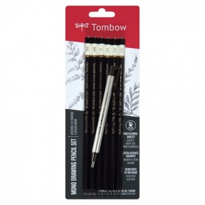 TOMBOW MONO Drawing Pencil Set, Combo Pack (6 Pack)