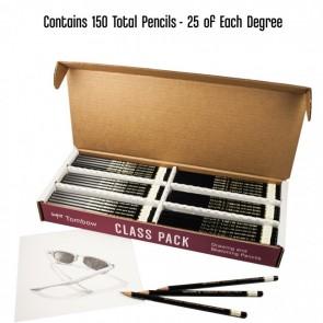 TOMBOW MONO Drawing Pencil Set, Class Pack (25 each: HB, B, 2B, 4B, 6B)