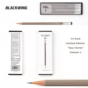 Limited Edition Palomino Blackwing VOLUME 1 - The Guy Clark Pencil - (12 Pack) - Made in Japan